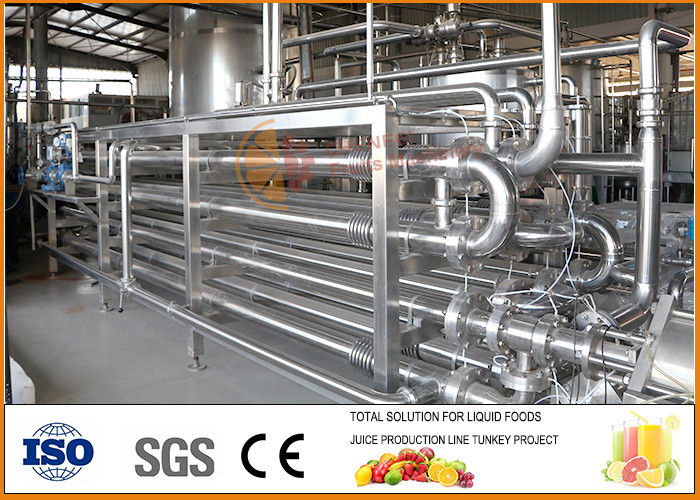 4T/day Juice Paste And Jam Tube In Tube Sterilization Equipment