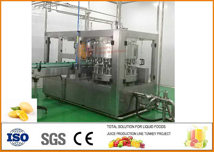 SS304 Turnkey Mango Juice Production Line SUS 304 Stainless Steel Material