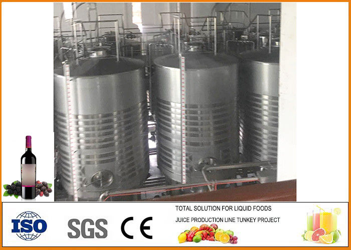 Mulberry Fruit Wine Fermentation Equipment 304 Stainless Steel Material 12 Months Warranty